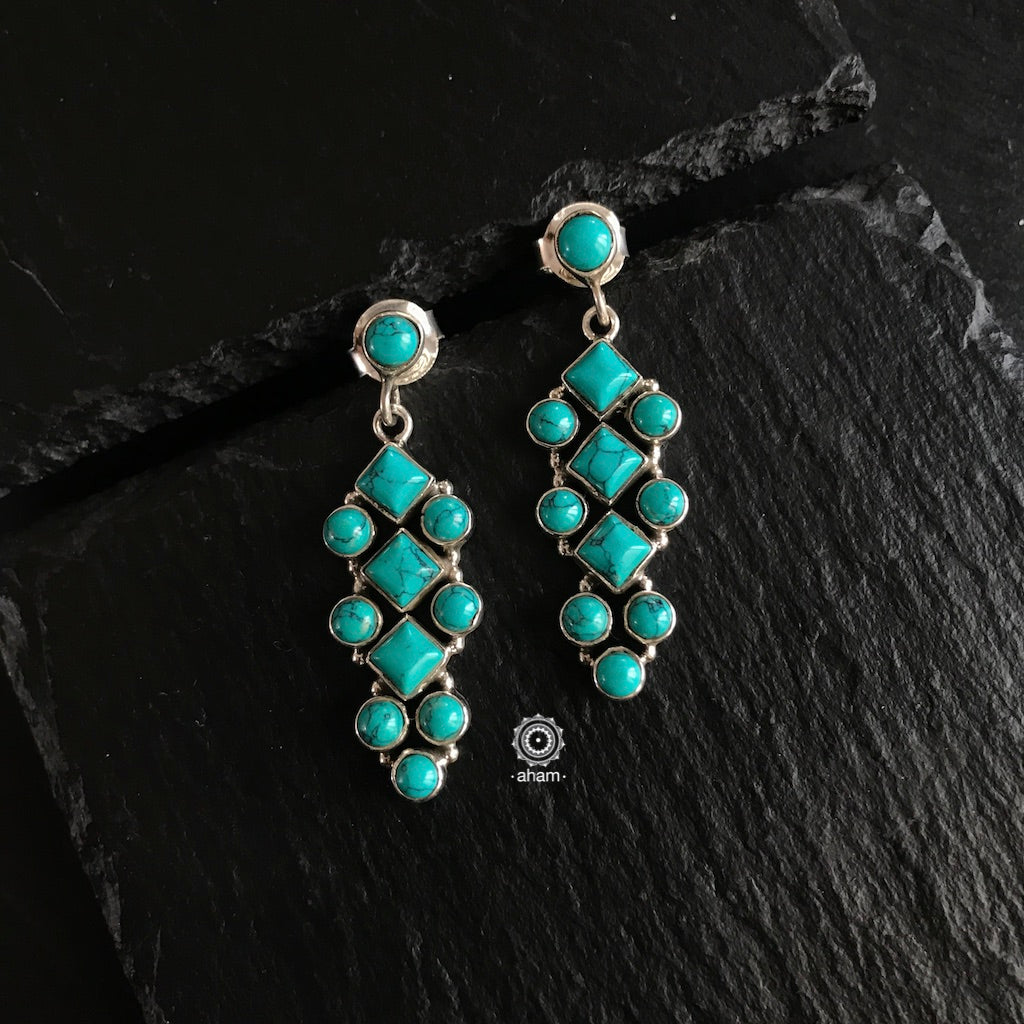 Summer Love Turquoise Silver Earring
