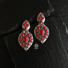 Summer Love Coral Leaf Earring