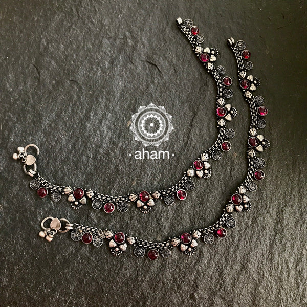 Silver Stone Anklet