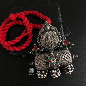 Laxmi Pendant on red thread