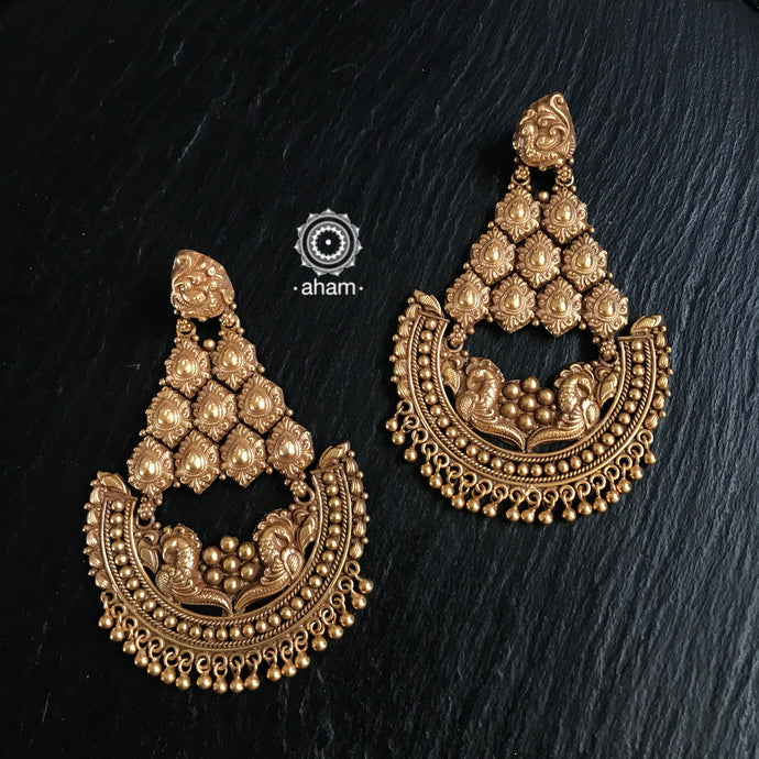 gold polish earrings india