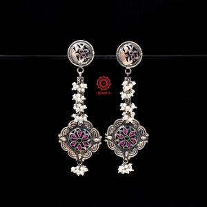 Malhar Silver earrings