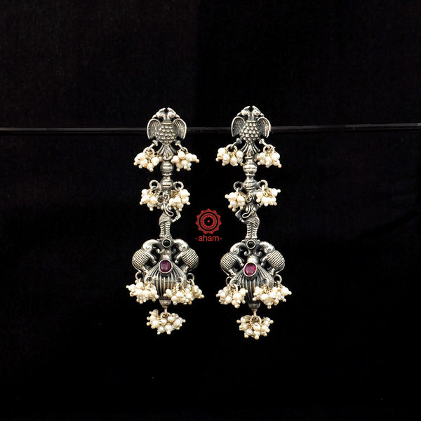 Malhar Apsara Silver earrings