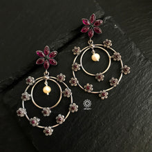 Nrityam Concentric Flower Circle Earring