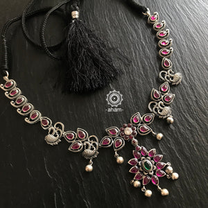 Nrityam Necklace with small peacocks