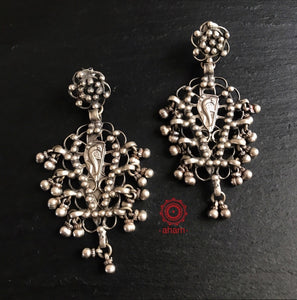 Vintage Silver Statement Earrings