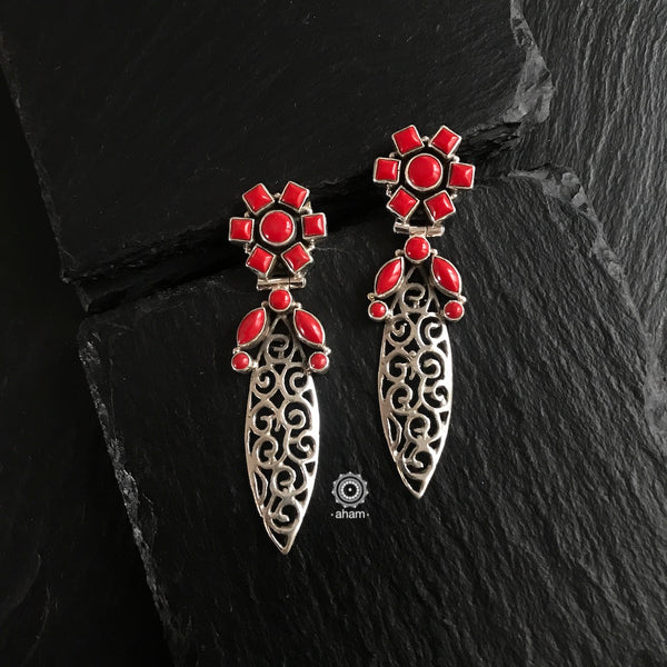 Summer Love Red Leaf Earring