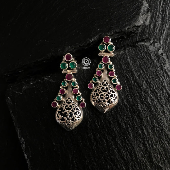 Summer Love Maroon & Green Earring