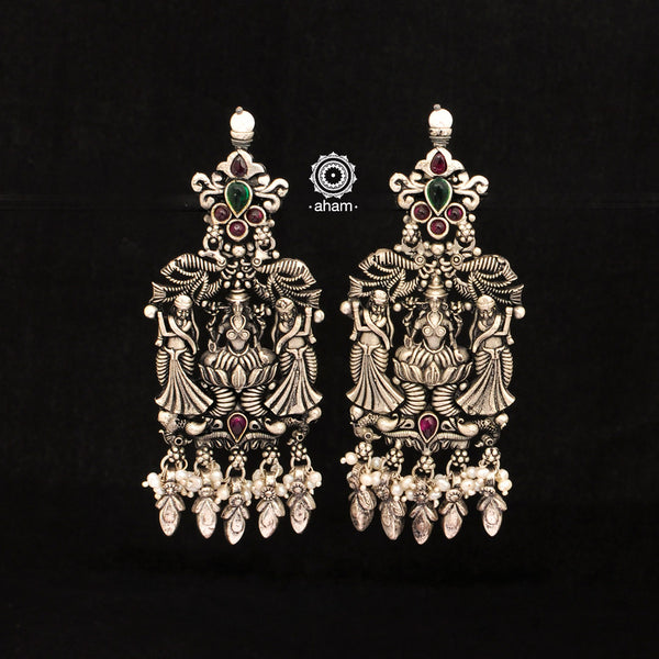 Nrityam Lakshmi Silver Earrings