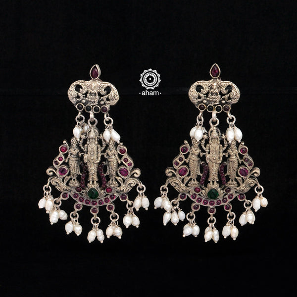 Nrityam Vishnu Silver Earrings
