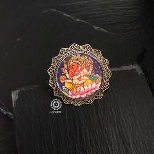Hand Painted Ganesha Ring