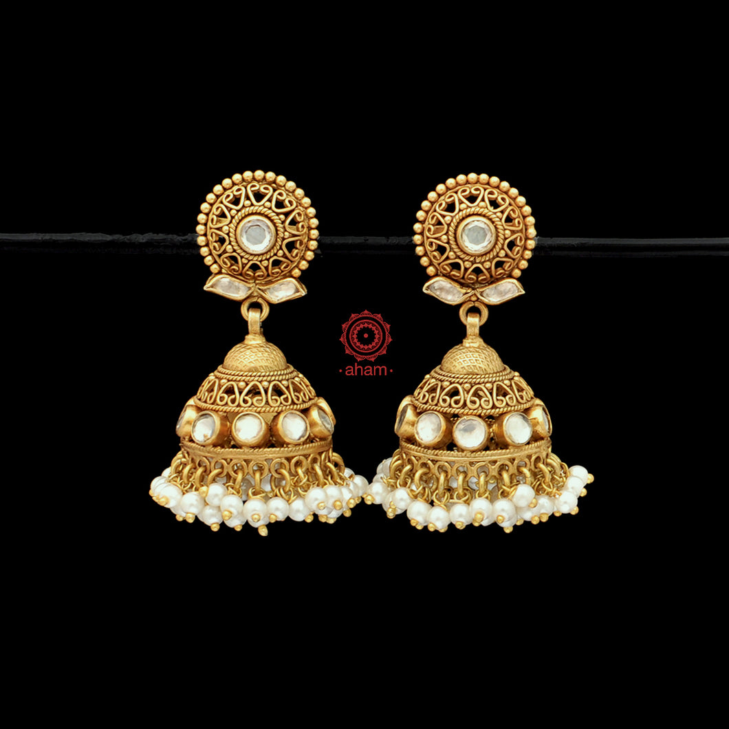 Gold and pearl Jhumkies