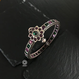 Green and Maroon Stone kada