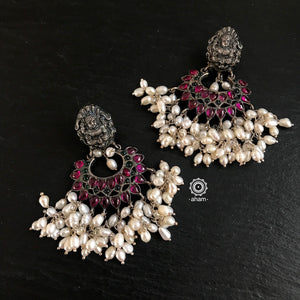 Laxmi earrings with pearls