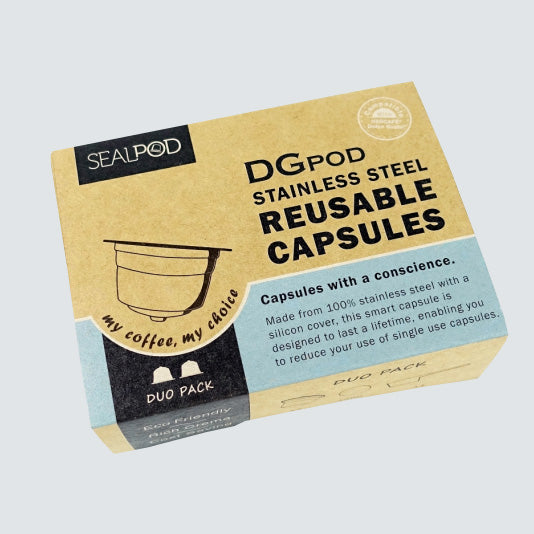DGpod Dolce Gusto® Reusable Pods 2 pack (+ 200 filter papers)