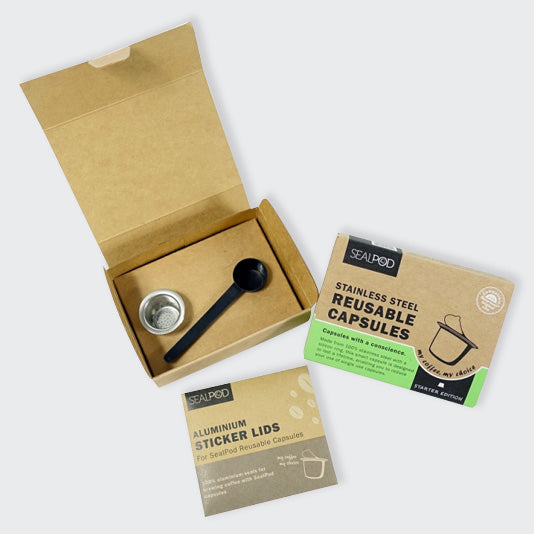 SealPod Nespresso® Reusable Pod 1 pack (+ 100 Lids) - Maverick Coffee Co.