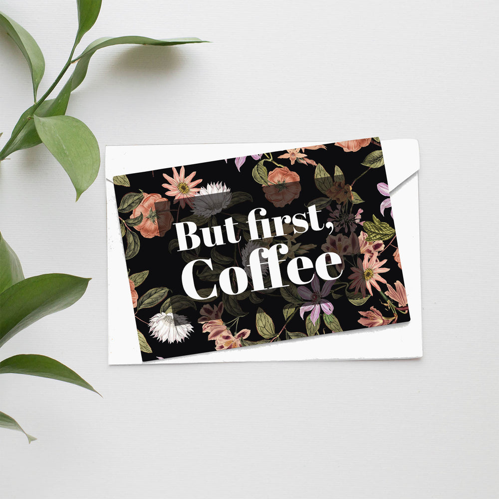 But First Coffee Card