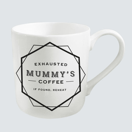Exhausted Mummy Coffee Cup