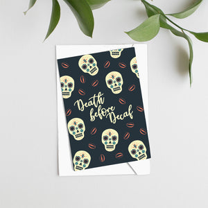 Load image into Gallery viewer, Death Before Decaf Card - Maverick Coffee Co.