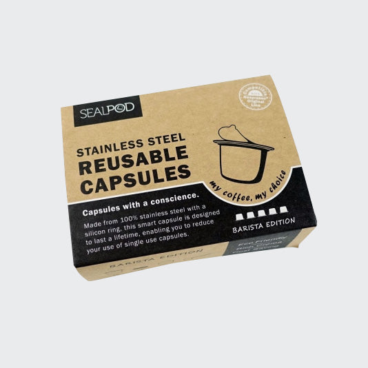 SealPod Nespresso® Reusable Pods 5 pack  (+ 100 Lids)