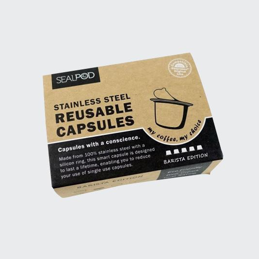 Load image into Gallery viewer, SealPod Nespresso® Barista Edition Reusable Capsules 5 Pack (wholesale) - Maverick Coffee Co.