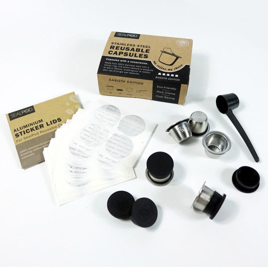 Load image into Gallery viewer, SealPod Nespresso® Barista Edition Reusable Coffee Pods (5 Pack) - Maverick Coffee Co.