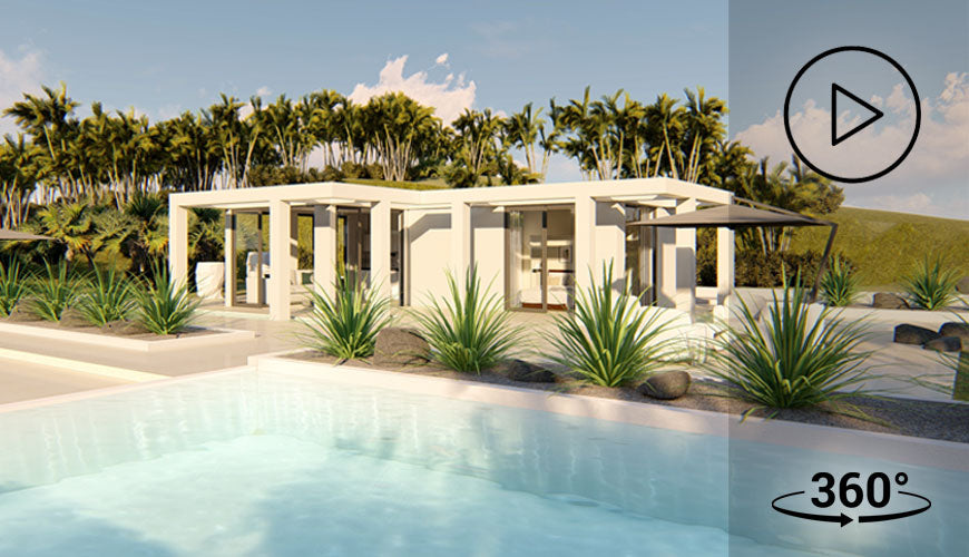 The Grenada Luxe hurricane resistant modular home from Bauhu Homes