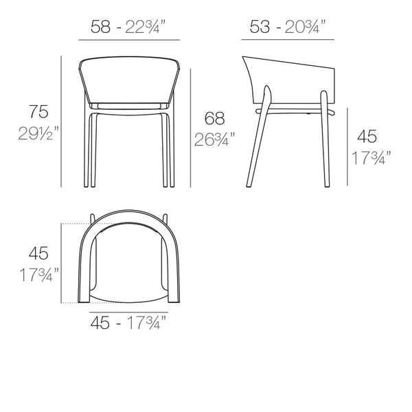 Africa armchair dimensions