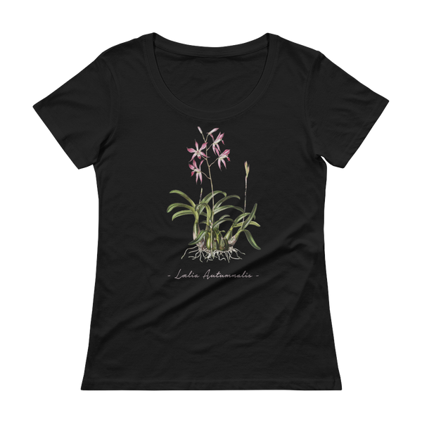 Vintage Orchid Illustration Women's T-Shirt (Laelia Autumnalis)