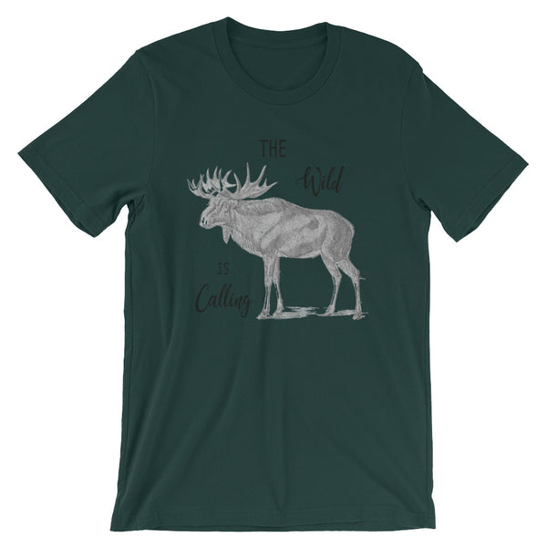The Wild Is Calling Moose Short Sleeve T-Shirt