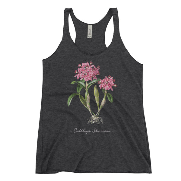 Vintage Orchid Illustration Women's Tank Top (Cattleya skinneri)