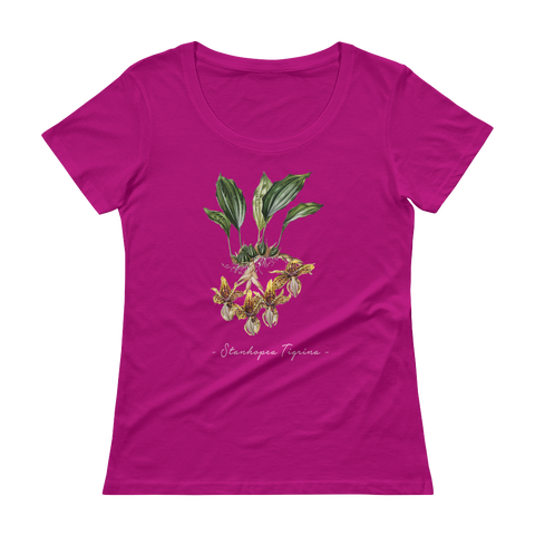 Vintage Orchid Illustration Women's T-Shirt (Stanhopea Tigrina)
