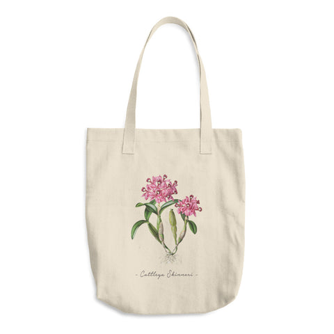 Vintage Orchid Illustration Tote Bag (Cattleya Skinneri)