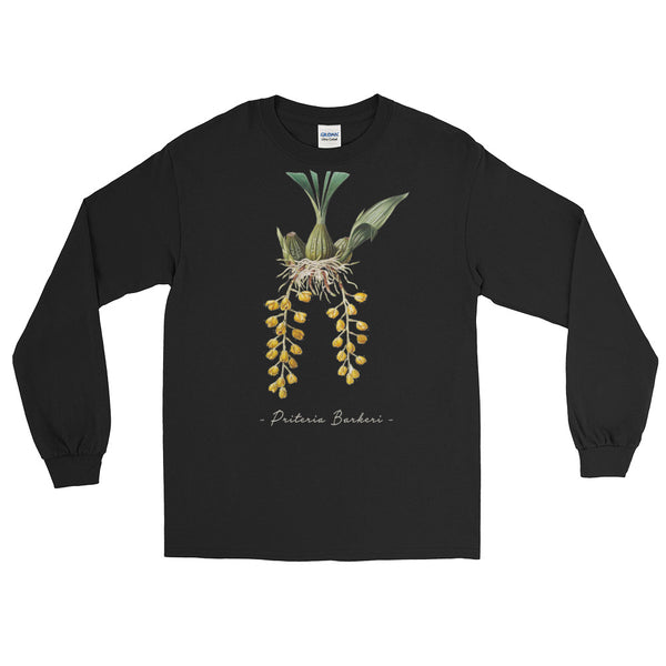 Vintage Orchid Illustration Long Sleeve T-Shirt (Priteria Berkeri)