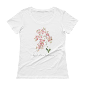 Vintage Orchid Illustration Women's T-Shirt (Epidendrum Erubescens)