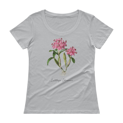 Vintage Orchid Illustration Women's T-Shirt (Cattleya Skinneri)