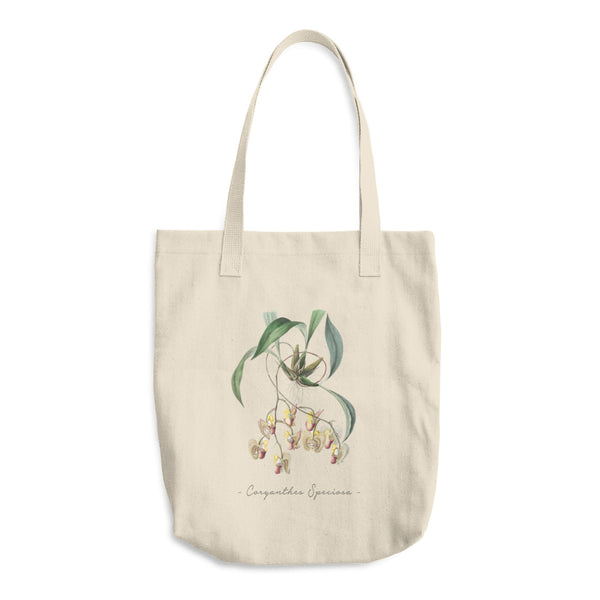 Vintage Orchid Illustration Tote Bag (Coryanthes Speciosa)