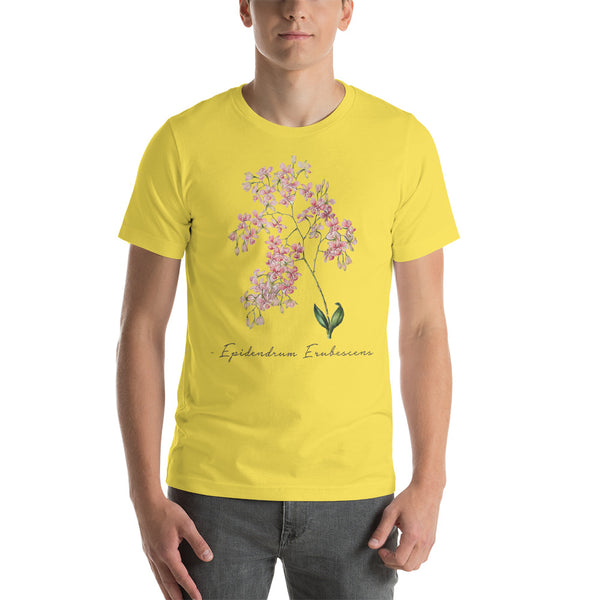 Vintage Orchid Illustration Short-Sleeve T-Shirt (Cycnoches Ventricosum)