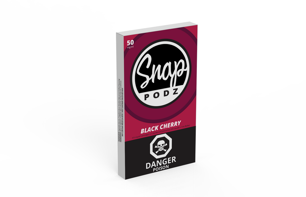 Snap Podz - Black Cherry 50mg Juul Compatible Pods - 4 pack