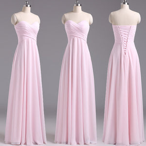 2529142f4d62 Copy of 2018 Blush Pink Long Chiffon Bridesmaid Dresses A Line Cheap Wedding  Party Dresses