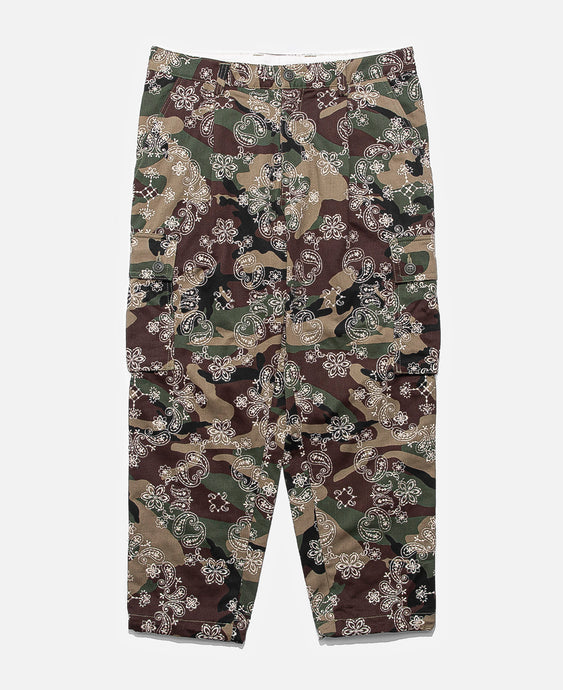 EMBRIDERY PAISLEY CAMO 6 POCKET PANTS