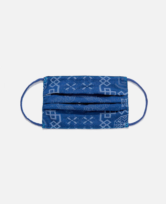CLOT SILK MASK COVER, ROYAL BLUE