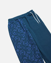 CLOT SILK PRINT SWEAT PANTS, NAVY