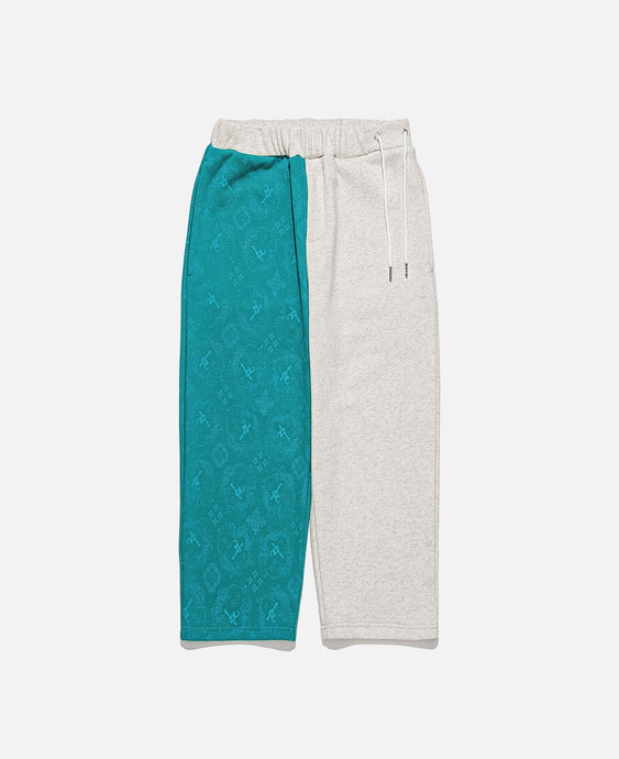 CLOT SILK PRINT SWEAT PANTS, GREEN