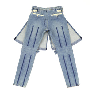 Sacai Denim Pants Light Blue