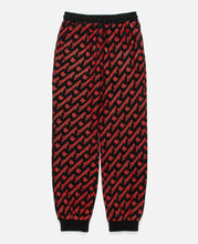 BLACK SWEATPANTS W/ RED ALL OVER PRINT