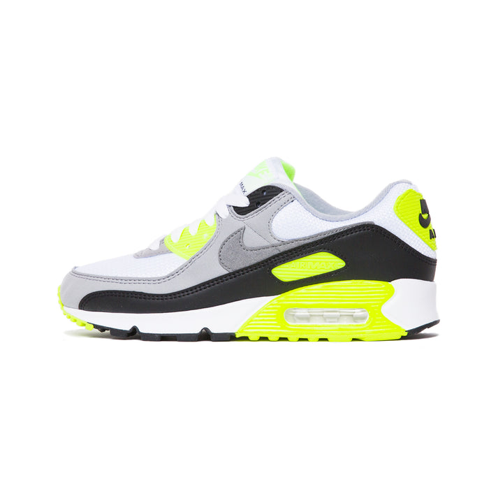 WOMENS AIR MAX 90 WHITE/PARTICLE GREY-VOLT-BLACK