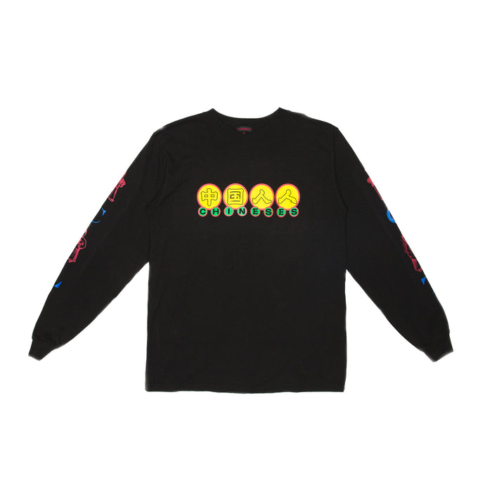 BLACK CHINESES CNY LONG SLEEVE TEE
