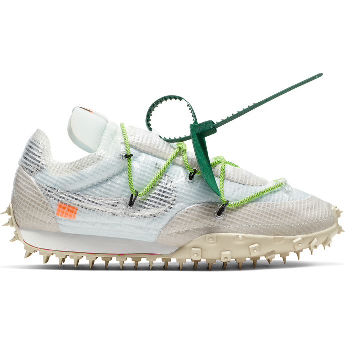 NIKE X OFF-WHITE W WAFFLE RACER WHITE/BLACK-ELECTRIC GREEN