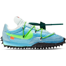 NIKE X OFF-WHITE W WAFFLE RACER VIVID SKY/ELECTRIC GREEN-BLACK